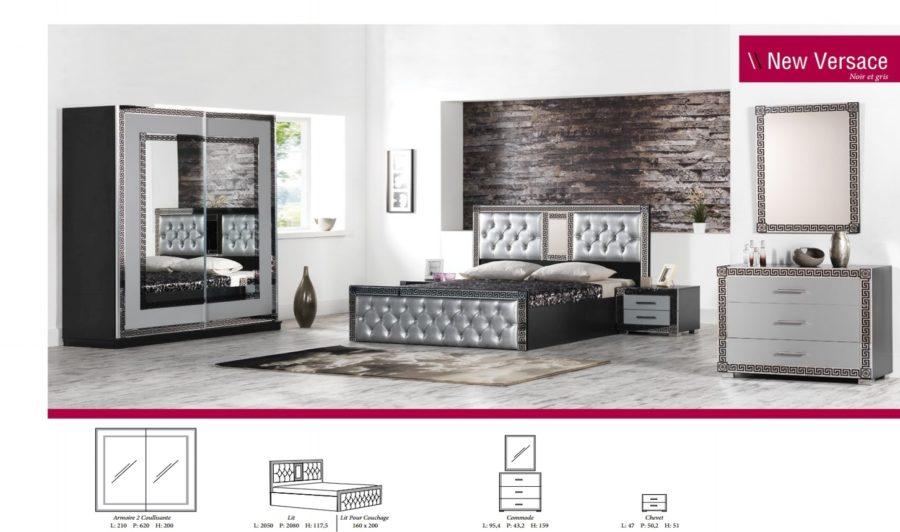 Chambre à coucher Versace Gris